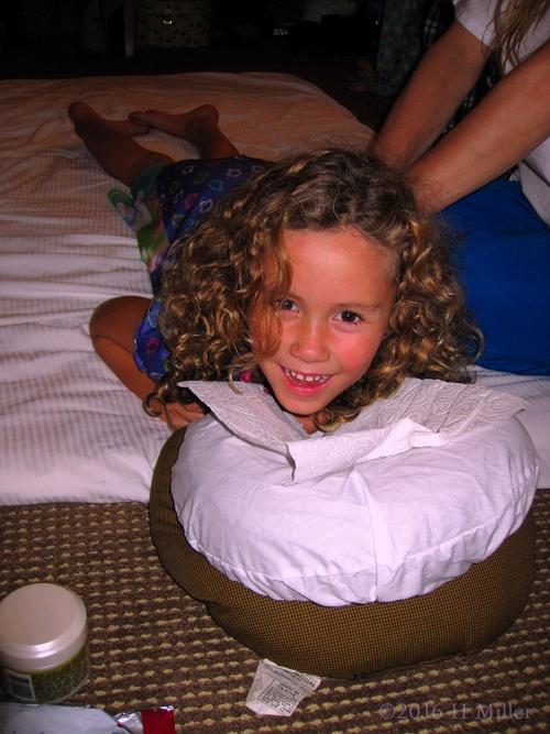 Smiling During Kids  Massage